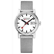 Mondaine Ladies' Evo Big Stainless Steel Mesh Strap Watch - Product number 8043892