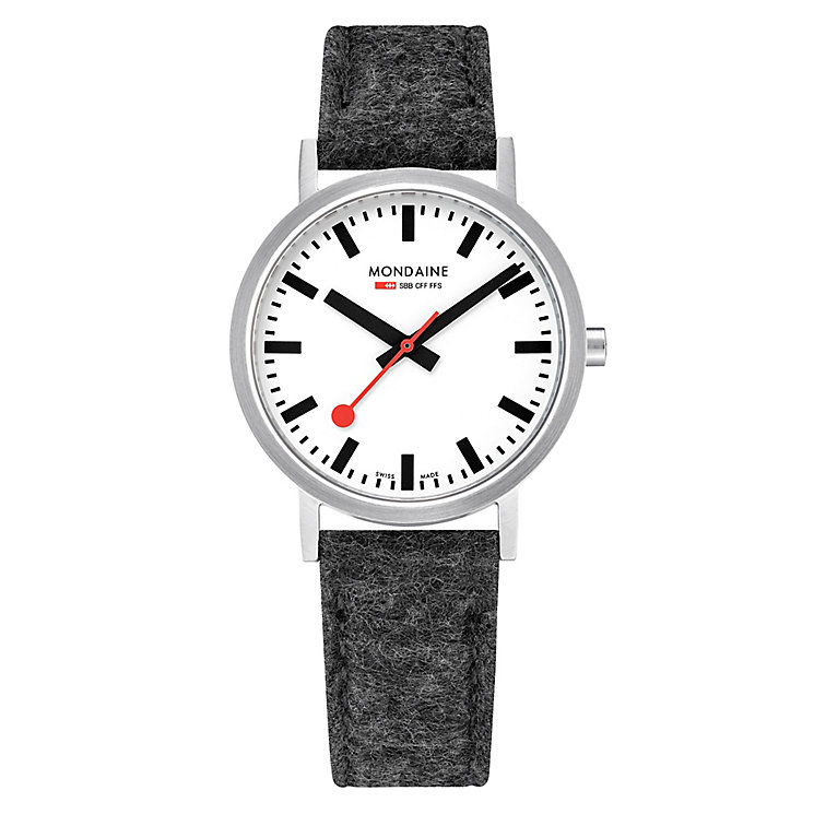 Mondaine Men's Simply Elegant Fabric Strap Watch - Product number 8043922