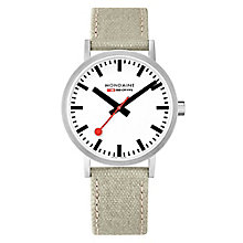 Mondaine Men's Simply Elegant Fabric Strap Watch - Product number 8043949