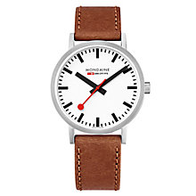 Mondaine Simply Elegant Brown Leather Strap Watch - Product number 8043957