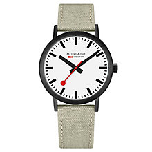 Mondaine Men's Simply Elegant Fabric Strap Watch - Product number 8043965