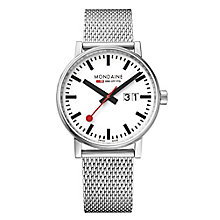 Mondaine Men's Evo Big Stainless Steel Mesh Strap Watch - Product number 8044074