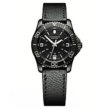 Victorinox Ladies' Maverick Small Black Leather Strap Watch - Product number 8044120