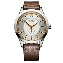 Victorinox Men's Alliance Brown Leather Strap Watch - Product number 8044163