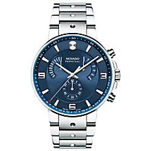 Movado SE Pilot Men's Stainless Steel Blue Dial Watch - Product number 8046123