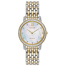 Citizen Ladies' Eco Drive Two Colour Crystal Watch - Product number 8046220