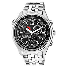 Citizen Men's Eco Drive Black Stainless Steel Watch - Product number 8046239