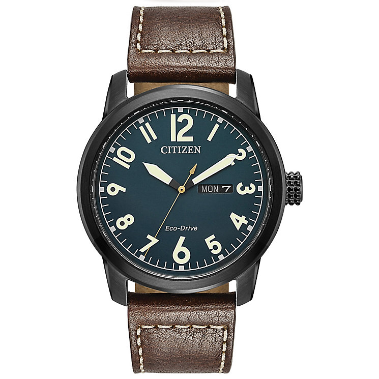 Citizen Men's Eco Drive Chandler Ion Plated Strap Watch - Product number 8046271