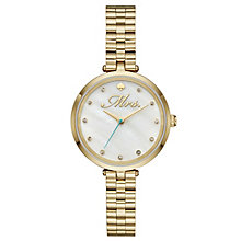 Kate Spade Holland Ladies' Yellow Gold-Tone Bracelet Watch - Product number 8046441