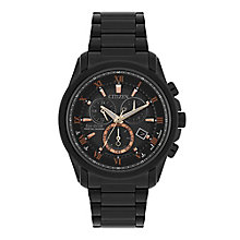 Citizen Eco-Drive Men's Black Stainless Steel Bracelet Watch - Product number 8048819