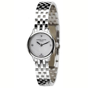 Eternal Silver ladies' 4 diamond round dial watch - Product number 8051879
