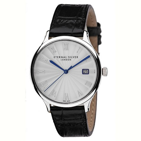 Eternal Silver men's round silver dial watch - RD3801GS