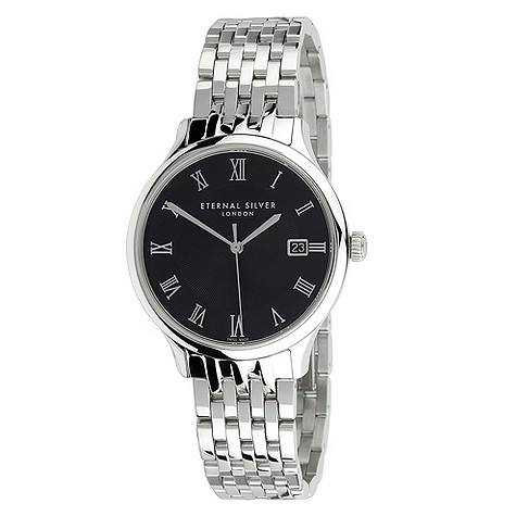 Eternal Silver men's silver bracelet watch