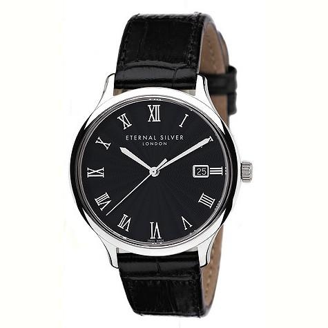 Eternal Silver round black dial men