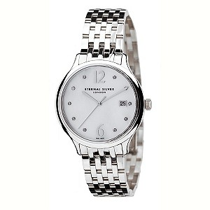 Eternal Silver men's 10 diamond set dial watch - Product number 8051933