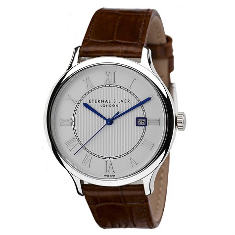 Eternal Silver men's round silver dial watch - RD4202GS
