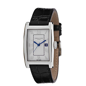 Eternal Silver men's white dial black strap watch - Product number 8052069