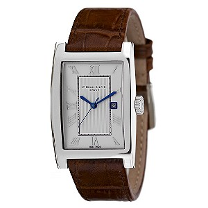 Eternal Silver men's brown strap watch - Product number 8052123