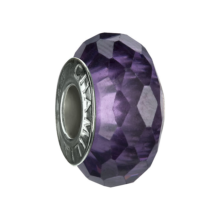 Chamilia sterling silver purple  cubic zirconia charm - Product number 8054622