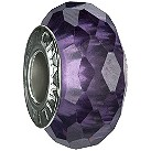 Chamilia - sterling silver purple glass bead - Product number 8054622