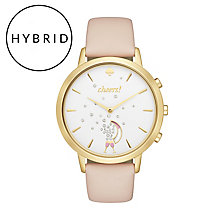 Kate Spade Ladies' Gold Tone Pink Strap Hybrid Smartwatch - Product number 8055106