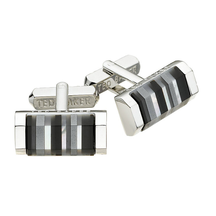 Ted Baker oblong grey shell cufflinks - Product number 8055807