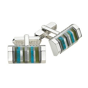 Ted Baker oblong blue shell cufflinks - Product number 8055815