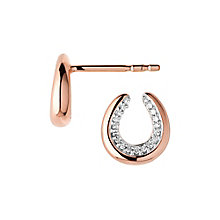 Links of London Ascot Rose Gold Plated Horseshoe Earrings - Product number 8056137