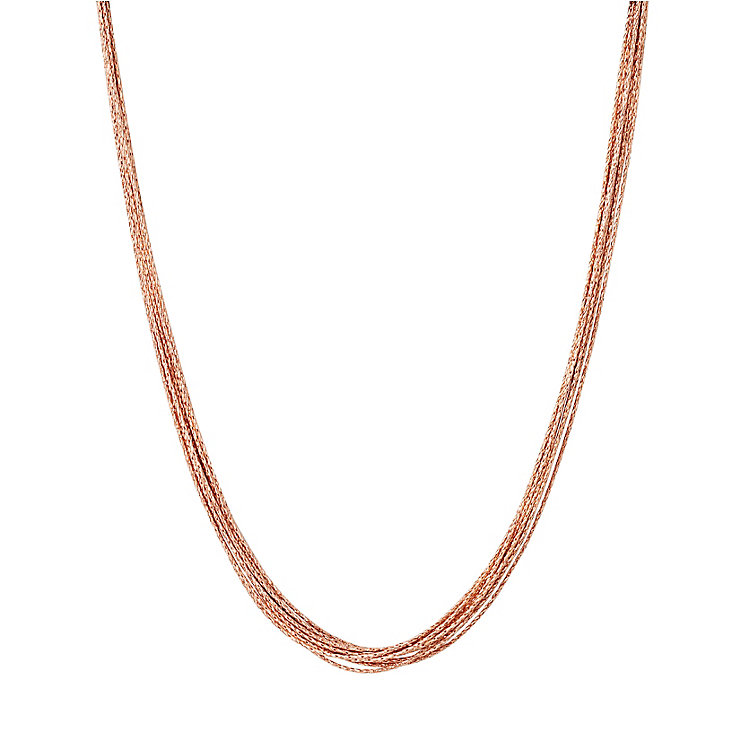 Links of London Essentials Silk Rose Gold Plated Necklace - Product number 8056307