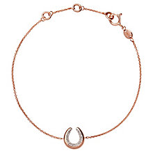 Links of London Ascot Rose Gold Plated Horseshoe Bracelet - Product number 8056528
