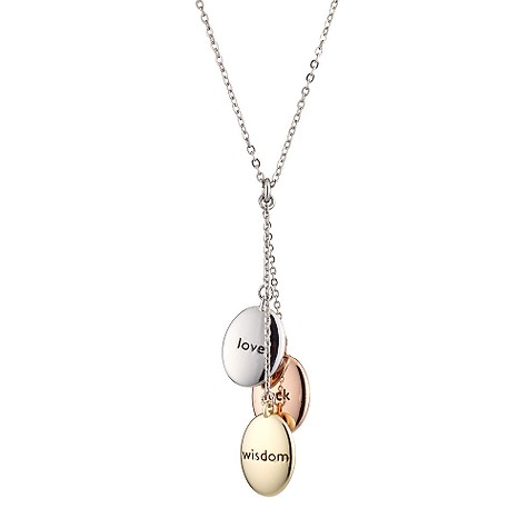 Gaventa three pebble necklace