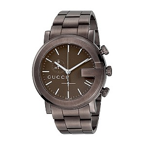 Gucci G Chrono men's brown PVD bracelet watch - Product number 8060126