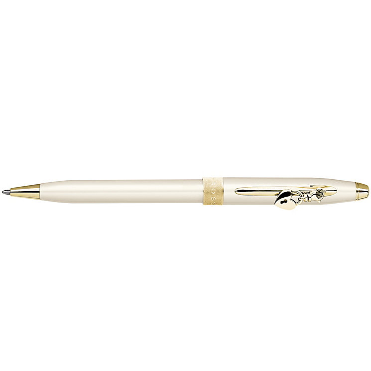 Cross ivory and gold coloured ball point charm pen - Product number 8066965