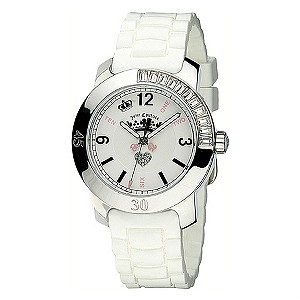 Juicy Couture BFF ladies' stone set white strap watch - Product number 8067651
