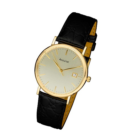 accurist 9ct gold mens watch product image