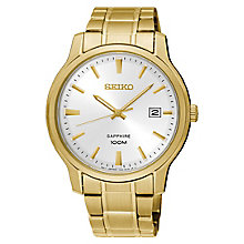 Seiko Dress Men's Yellow Gold Plated Bracelet Watch - Product number 8070369