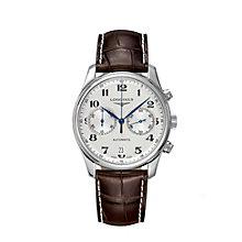 Longines Master Collection men's brown leather strap watch - Product number 8070881