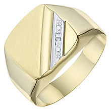 9ct Yellow Gold Diamond Set Cushion Ring - Product number 8071322