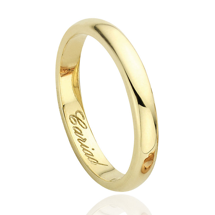 Clogau 9ct Yellow Gold 3mm Band - Product number 8077703