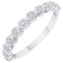 Sterling Silver Round Diamond Eternity Ring - Product number 8079544