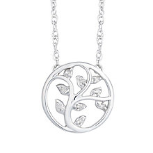 Sterling Silver Diamond Tree of Life Design Pendant - Product number 8080127