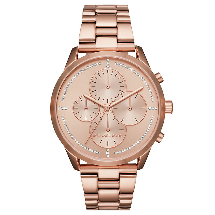 Michael Kors Slater Ladies' Rose Gold-Tone Bracelet Watch - Product number 8080534