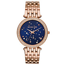 Michael Kors Darci Ladies' Rose Gold-Tone Bracelet Watch - Product number 8080577
