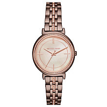 Michael Kors Cinthia Ladies' Ion Plated Stone Set Watch - Product number 8080631