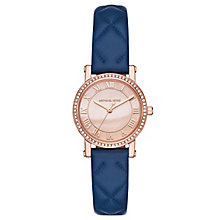 Michael Kors Norie Ladies' Rose Gold-Tone Blue Strap Watch - Product number 8080666
