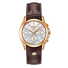 Roamer Ladies' Brown Leather Strap Chronograph Watch - Product number 8081204