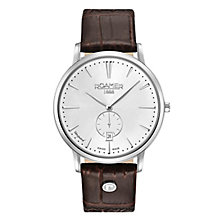 Roamer Men's Brown Leather Strap Chronograph Watch - Product number 8081263