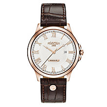 Roamer Men's Brown Leather Strap Chronograph Watch - Product number 8081298