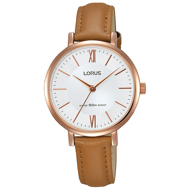 Lorus Ladies' Tan Leather Strap Watch - Product number 8081395