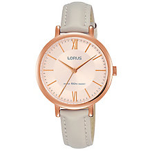 Lorus Ladies' Grey Leather Strap Watch - Product number 8081409